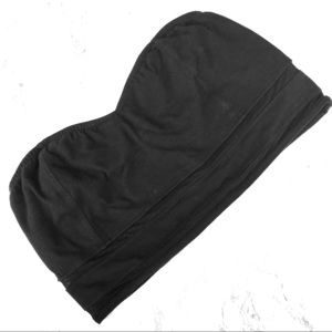 Black Bandeau Crop Top